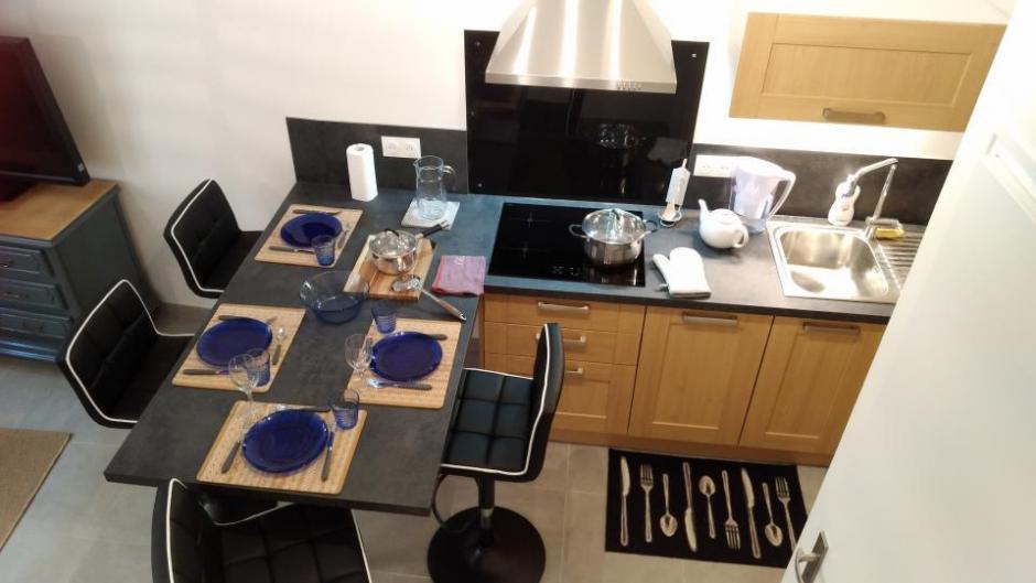 Le coin cuisine - Gîte du Petit Crochet à Fresnay-sur-Sarthe